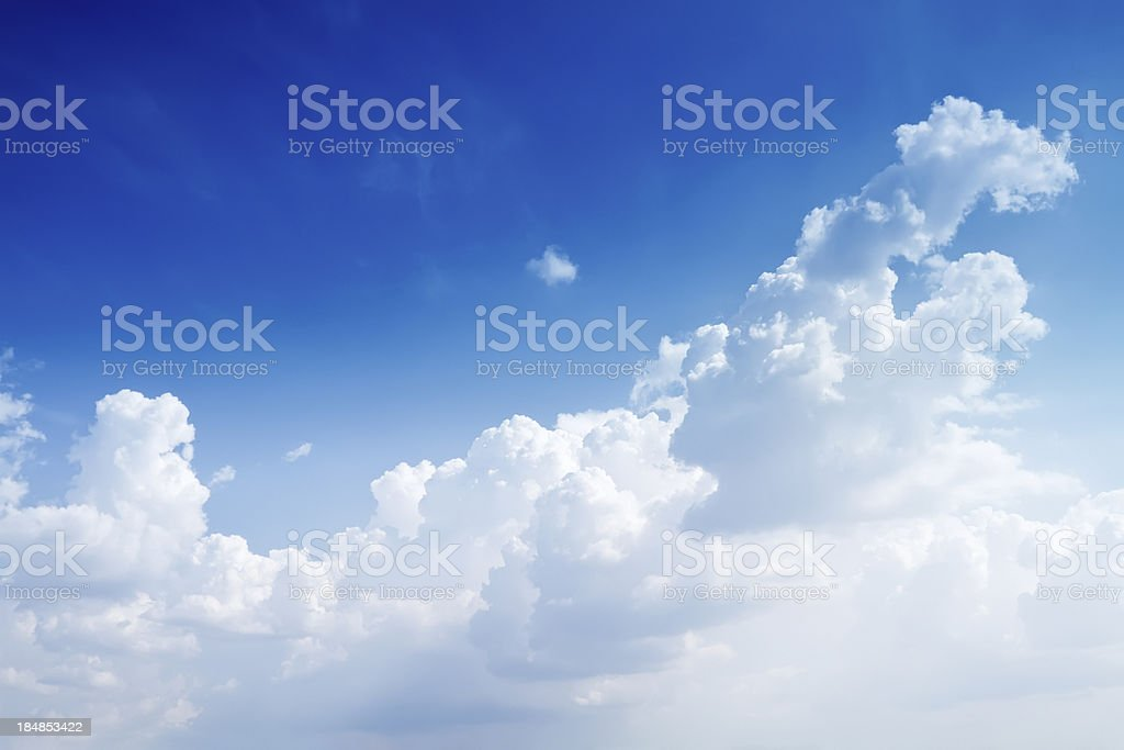 Naturally blue sky with some clouds royalty-free stock photo