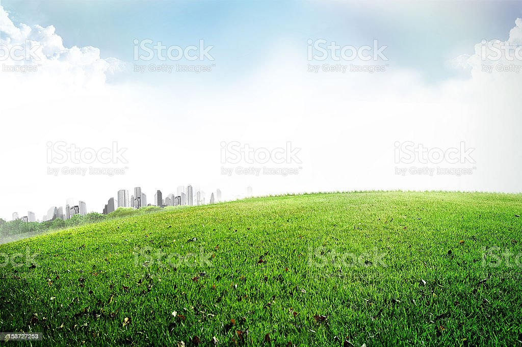nature against buildings royalty-free stock photo