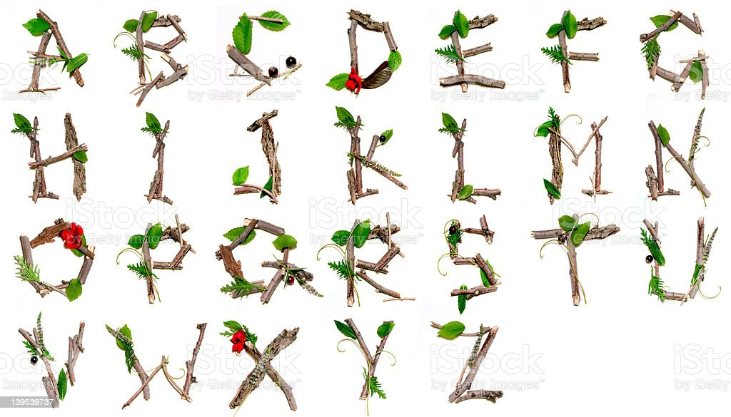 Nature Alphabet stock photo