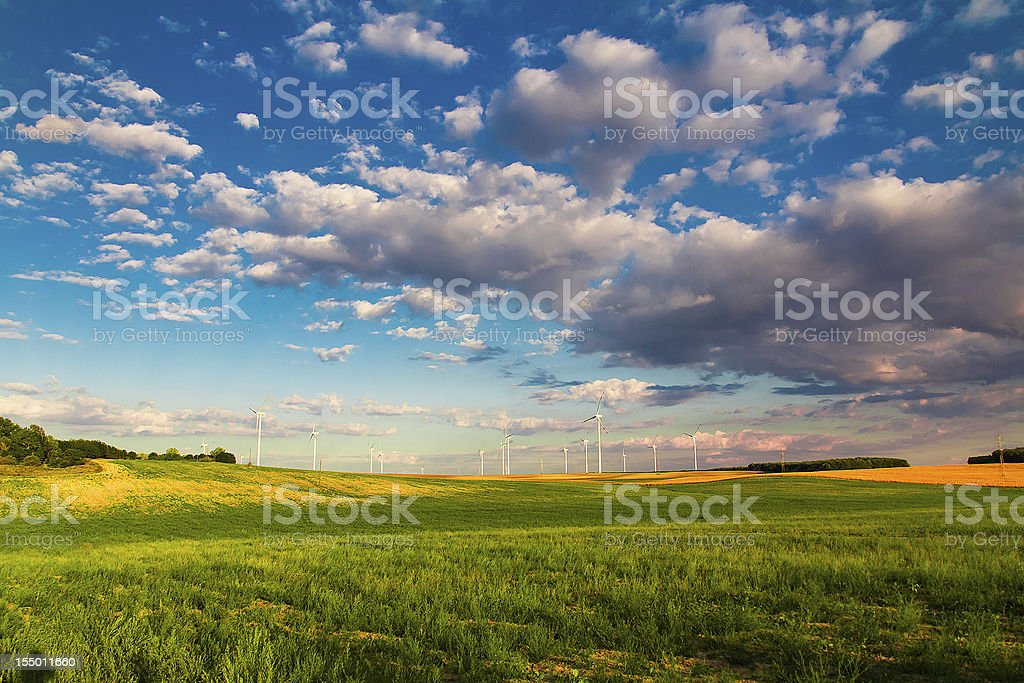 Nature and green energy royalty-free stock photo