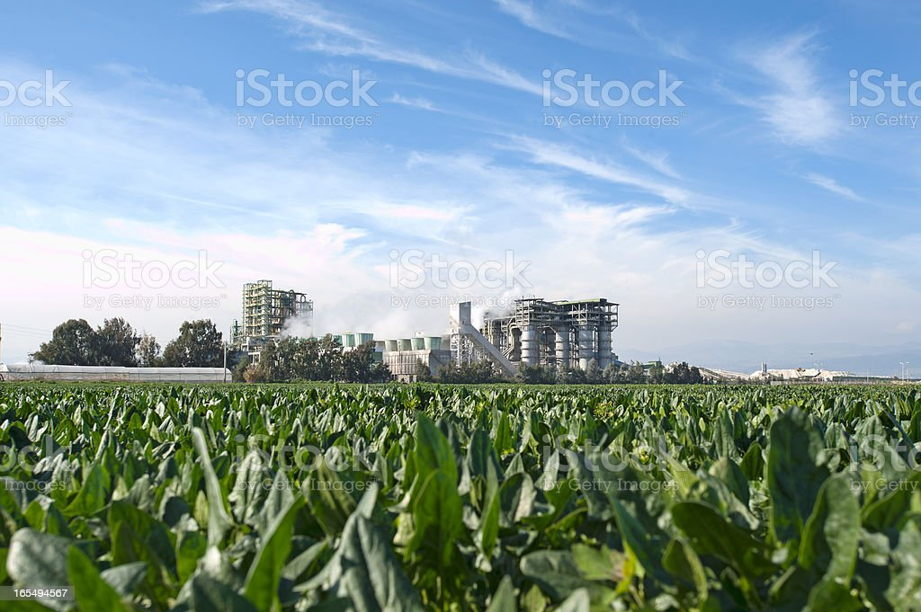 Nature  and Industry royalty-free stock photo