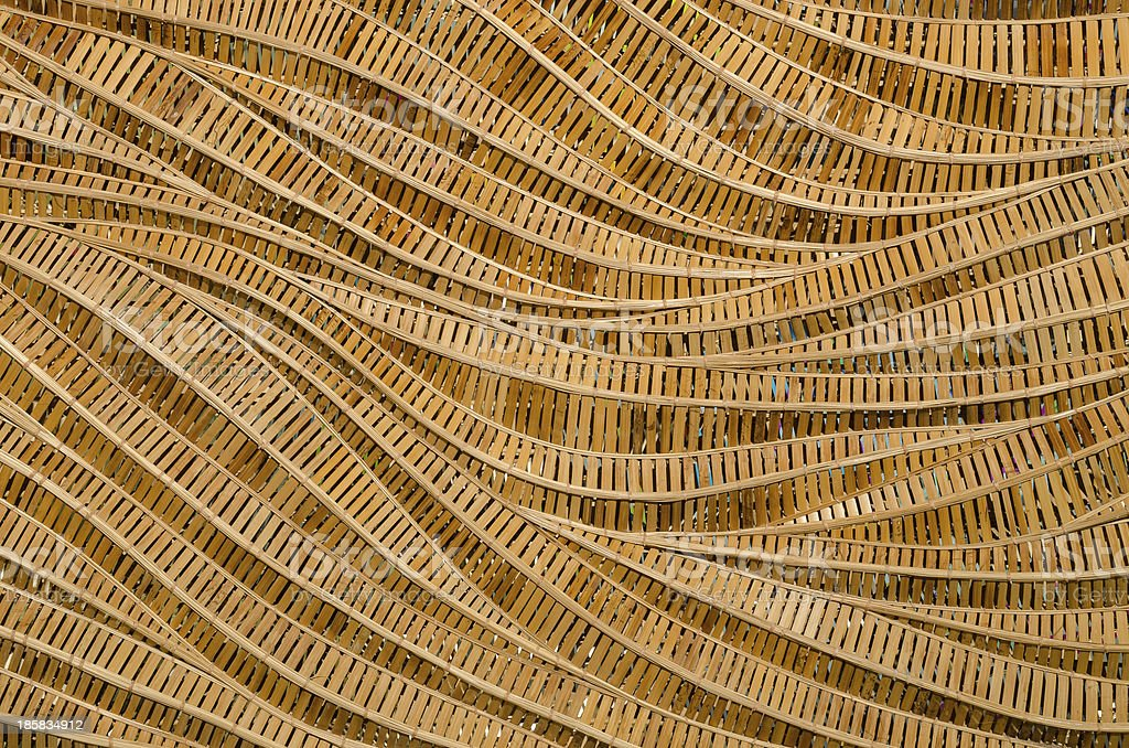 nature background of brown handicraft weave texture bamboo surface stock photo