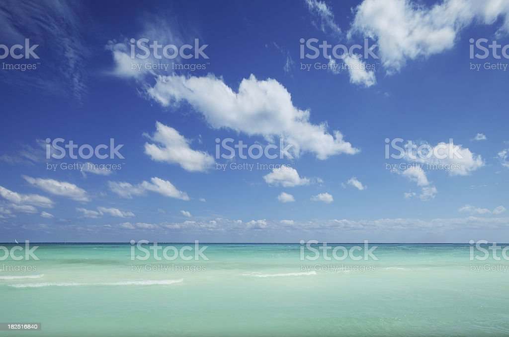 Nature background - sea and cloudscape stock photo