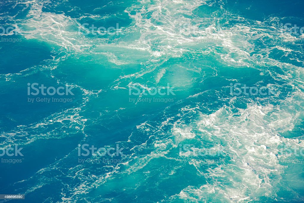 Nature Background - Tropical Ocean Water & Waves stock photo