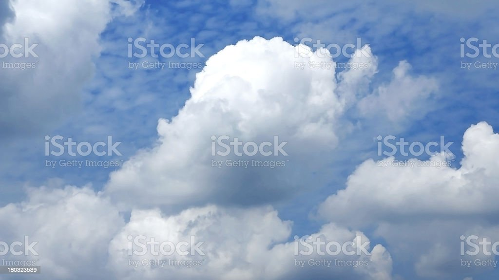 nature background. white clouds over blue sky royalty-free stock photo