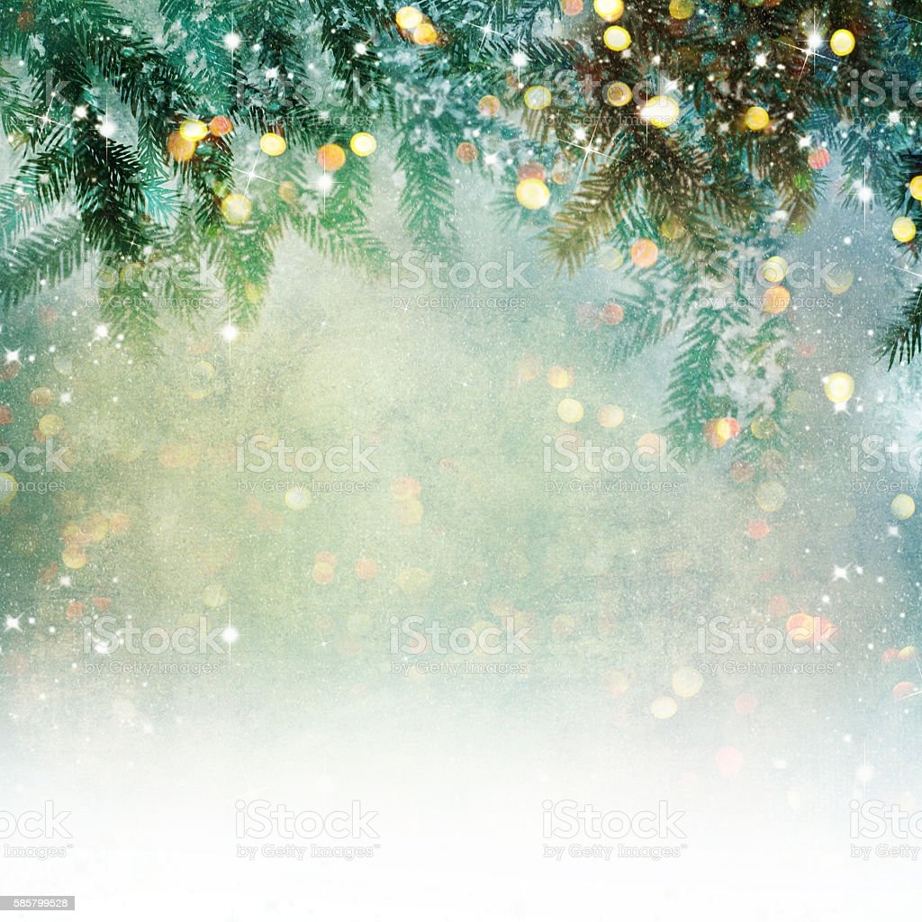 Nature background with lighten bokeh stock photo