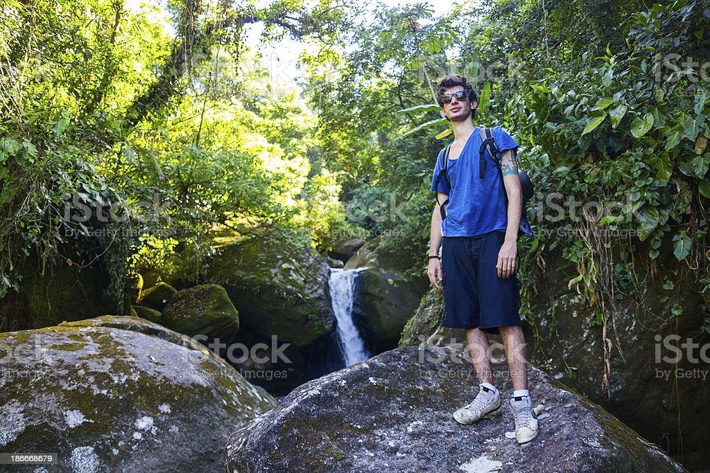 Nature backpacker royalty-free stock photo