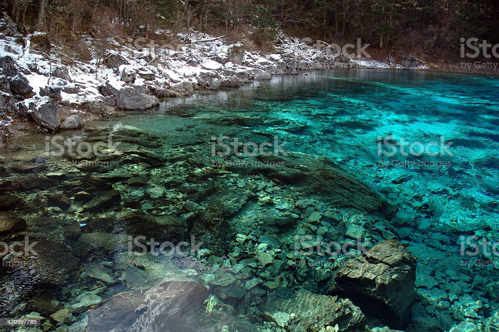Nature : Blue Lake royalty-free stock photo