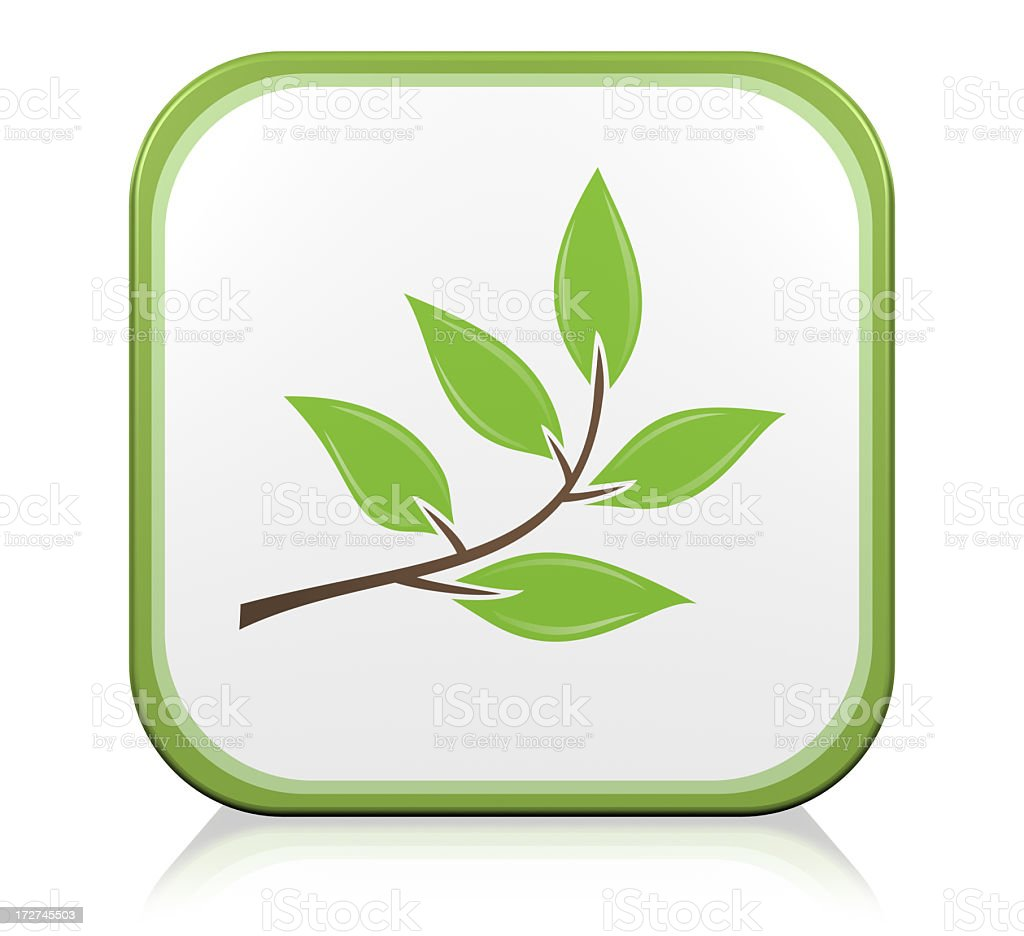 Nature Branch Icon royalty-free stock photo