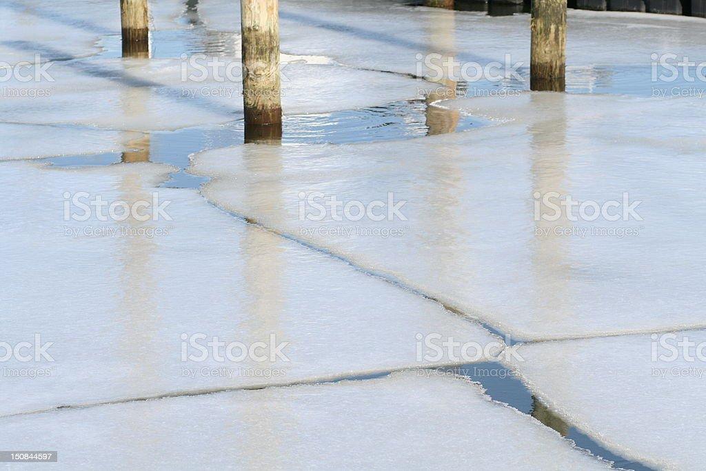 Nature: Breaking Ice stock photo