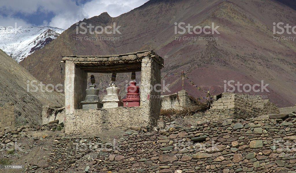 Nature buddhism praying place stock photo