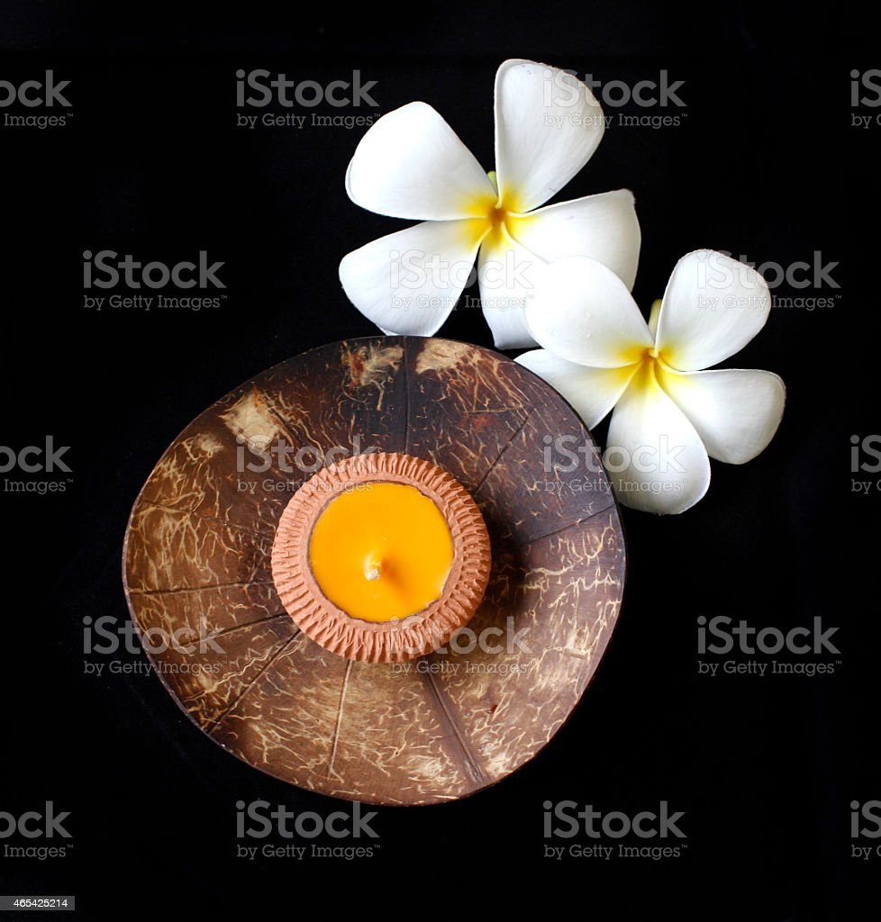 Nature candle holder royalty-free stock photo