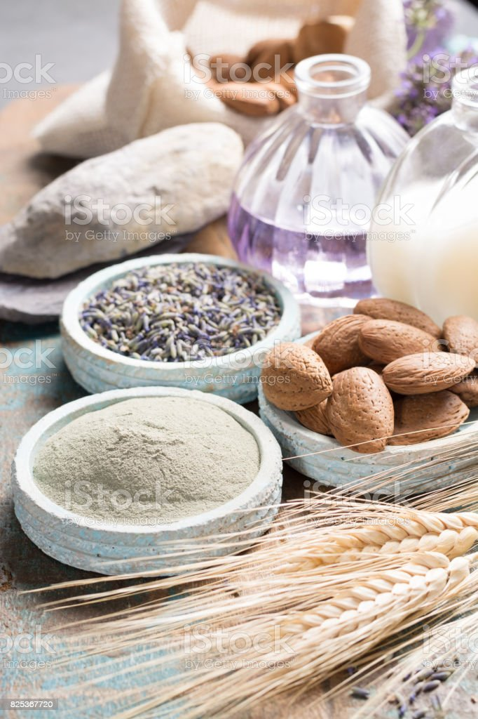 Nature cosmetics, handmade preparation with essential oils and...