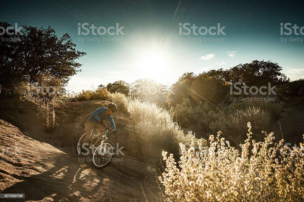 nature fitness  man landscape stock photo