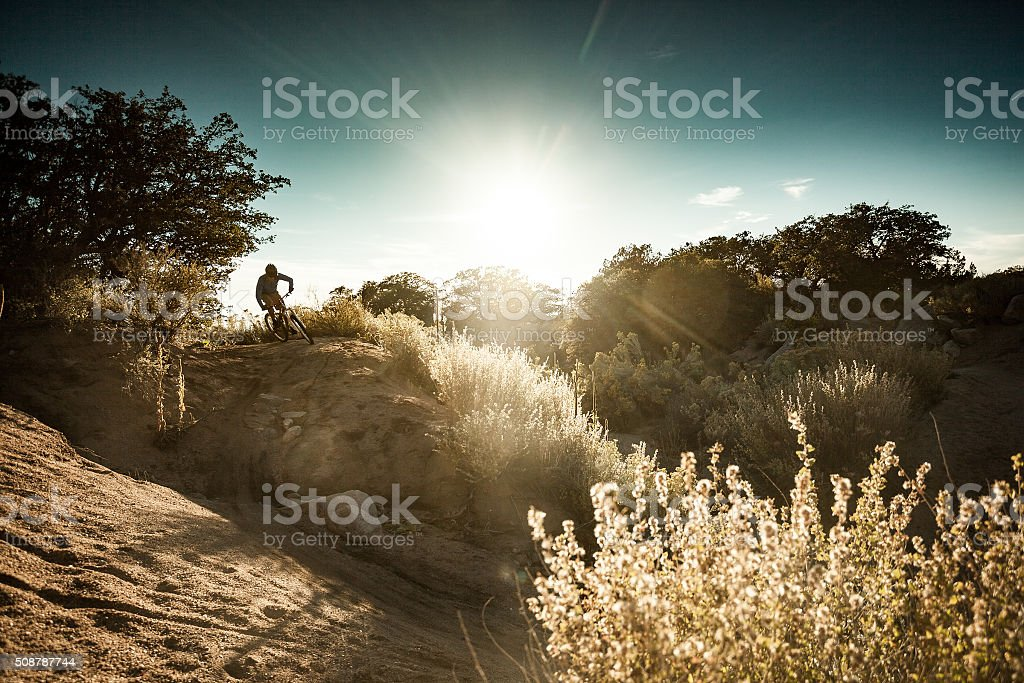 nature fitness  man landscape stock photo