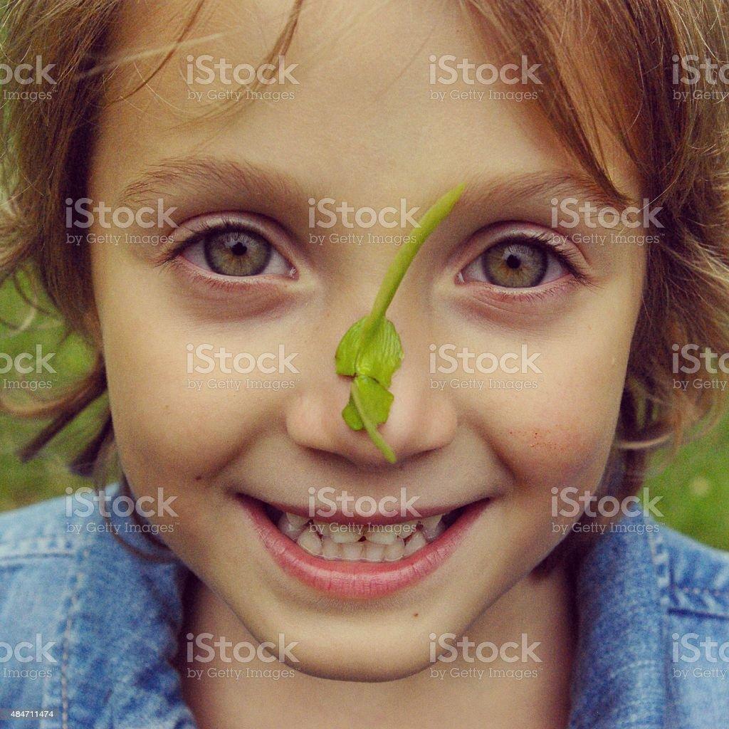 Nature girl stock photo
