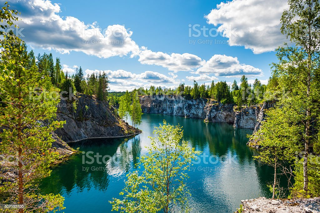 Nature in summer, Karelia, Russia stock photo
