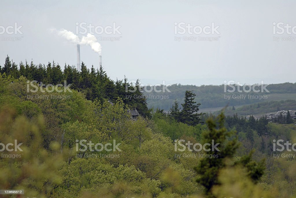 Nature & Industry stock photo