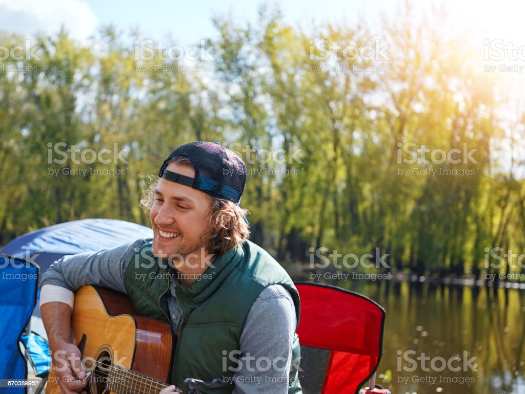 Nature inspires me musically stock photo
