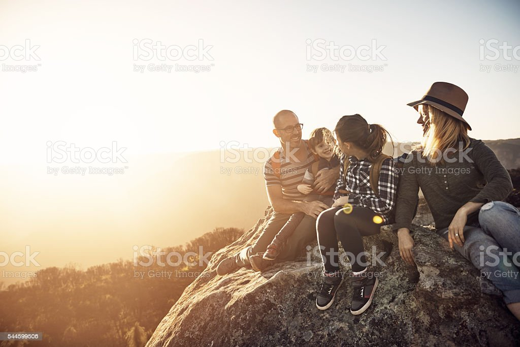 Nature is their happy place stock photo
