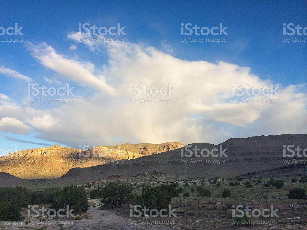 nature landscape desert sunrise stock photo