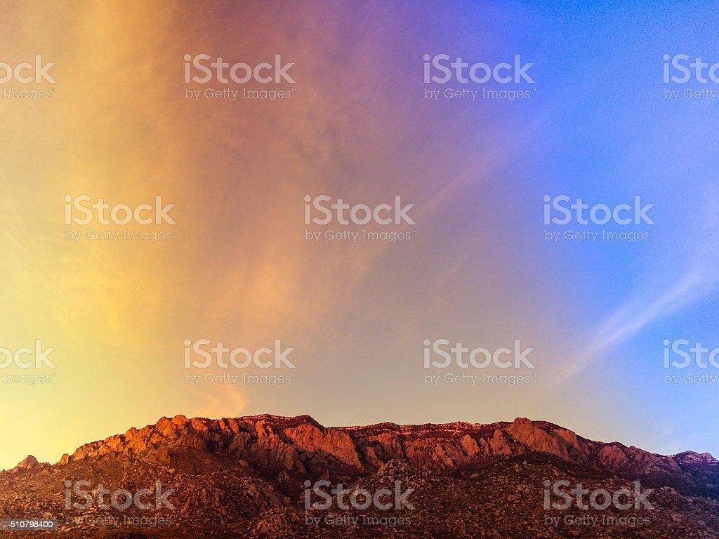 nature landscape sunset mountains stock photo