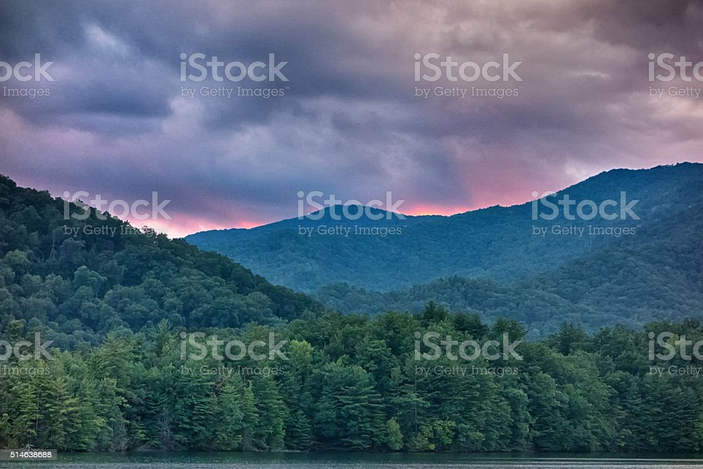 nature landscapes around lake santeetlah north carolina stock photo