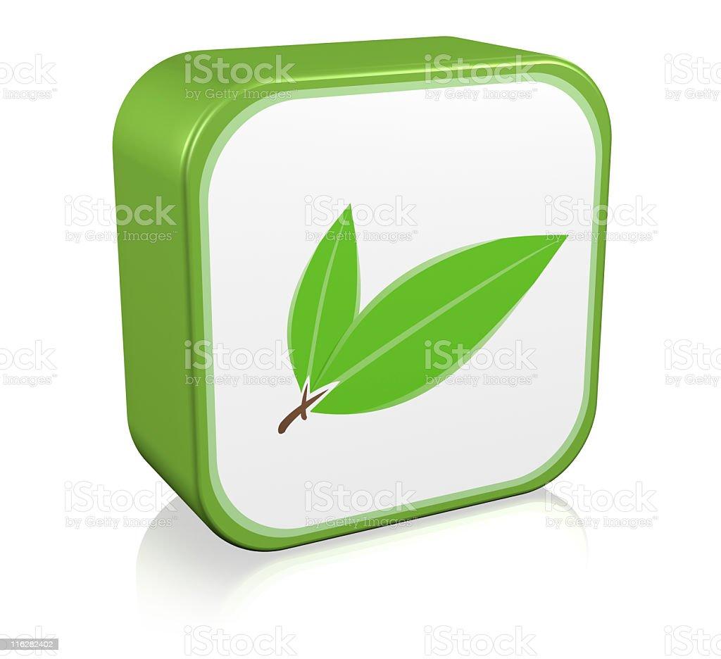 Nature Leaf Icon royalty-free stock photo