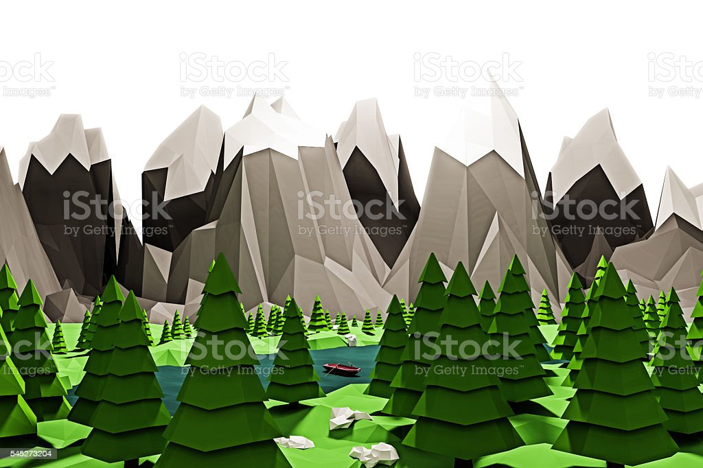 nature low poly stock photo