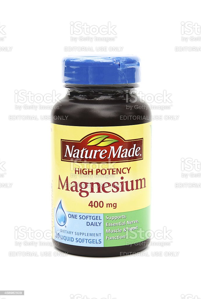 Nature Made Magnesium supplements stock photo