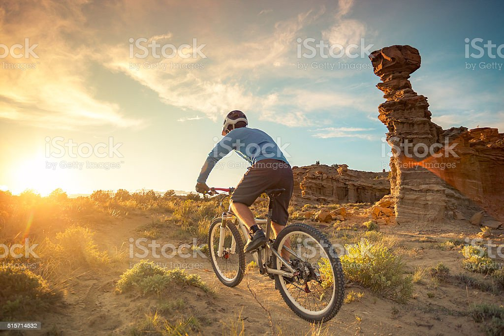 nature man adventure exercise landscape new mexico royalty-free stock photo