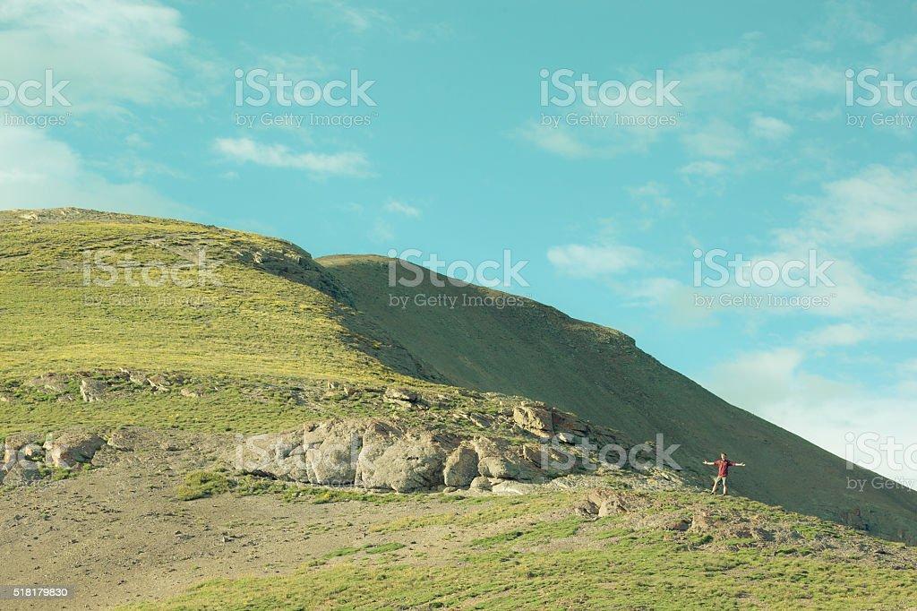 nature man joy stock photo