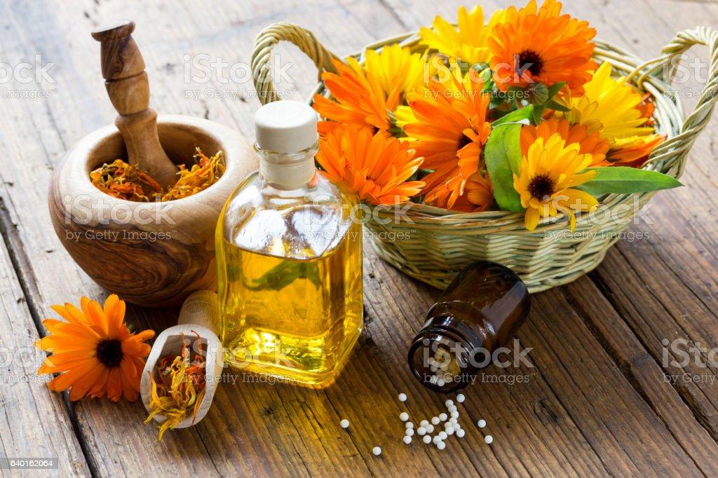 Nature medicine stock photo