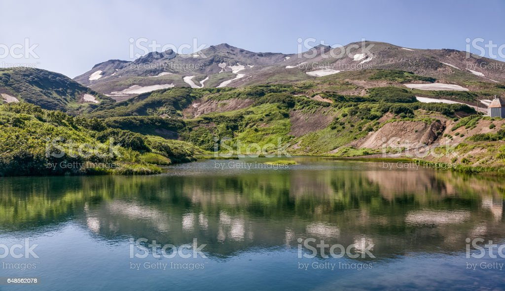 Nature of Kamchatka. Landscapes and magnificent views of the Kam stock photo