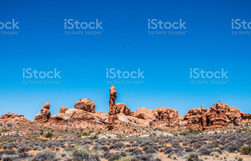 Nature of the Moab desert. Utah, United States stock photo