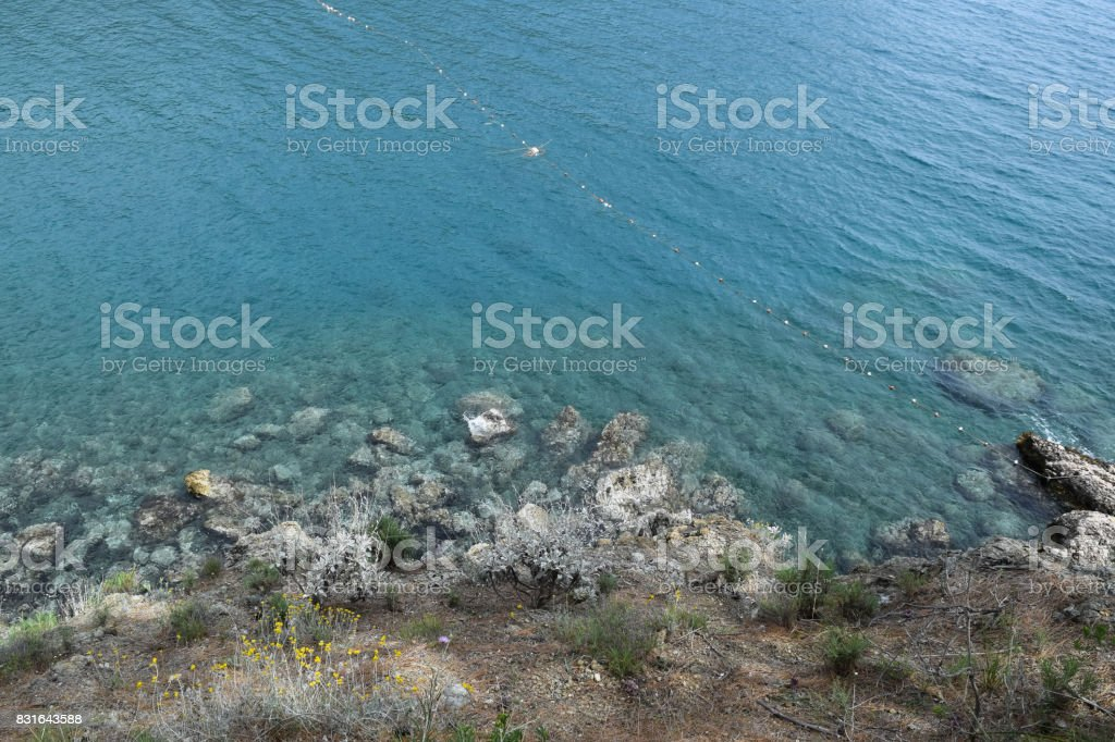 Nature of Turkey. Phaselis ancient city territory. Mediterranean sea coast. Asia Minor stock photo