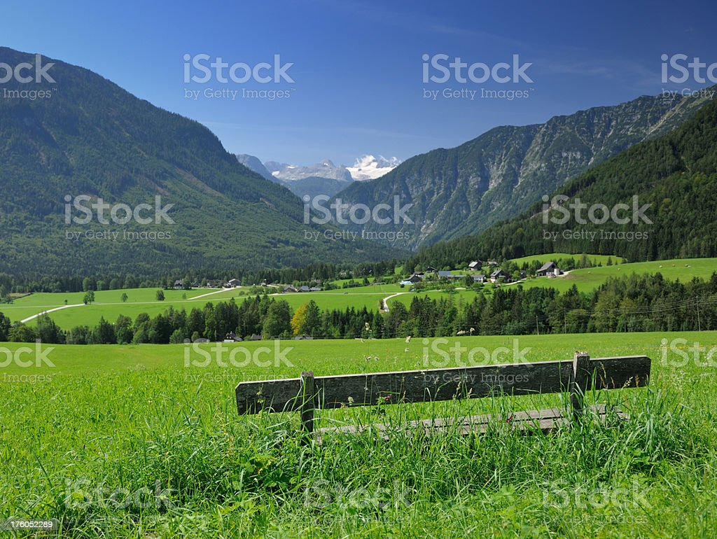 Nature Paradise, Place to Relax - Beautiful Alps Panorama royalty-free stock photo