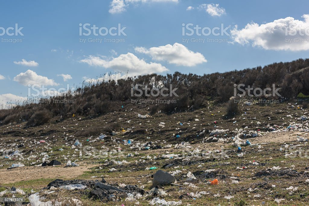 nature pollution stock photo