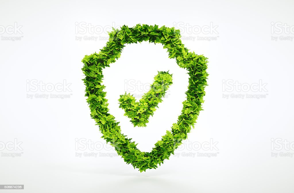 Nature protection symbol stock photo