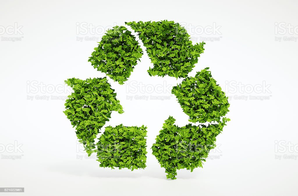 Nature recycling symbol stock photo