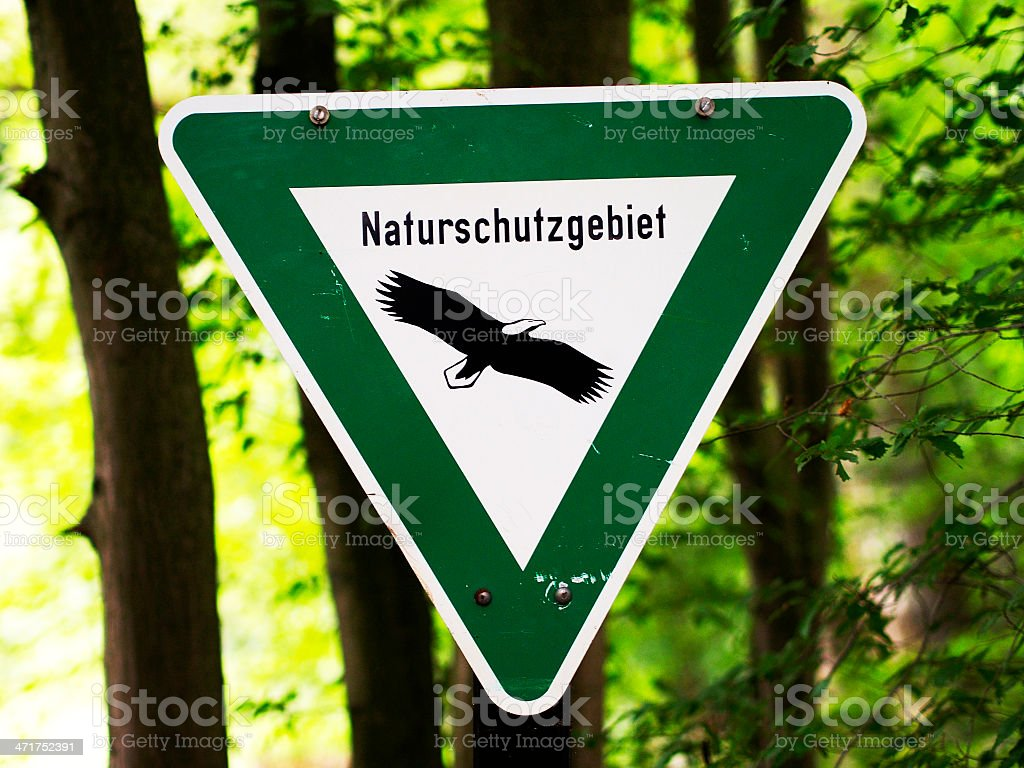 Naturschutzgebiet stock photo