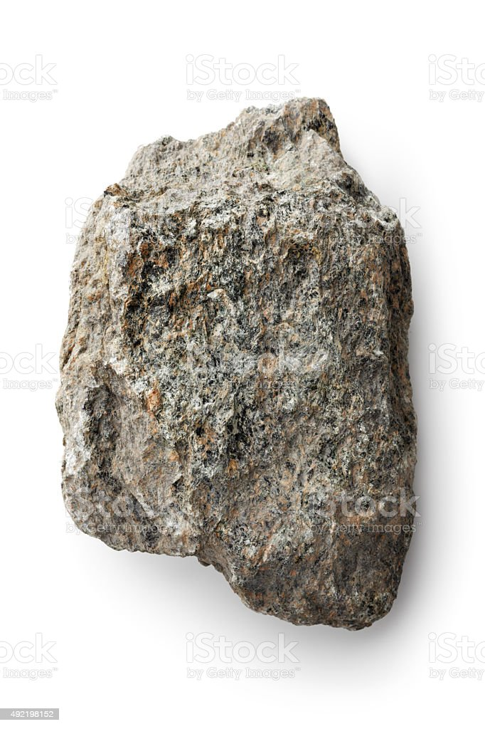 Nature: Rock Isolated on White Background stock photo