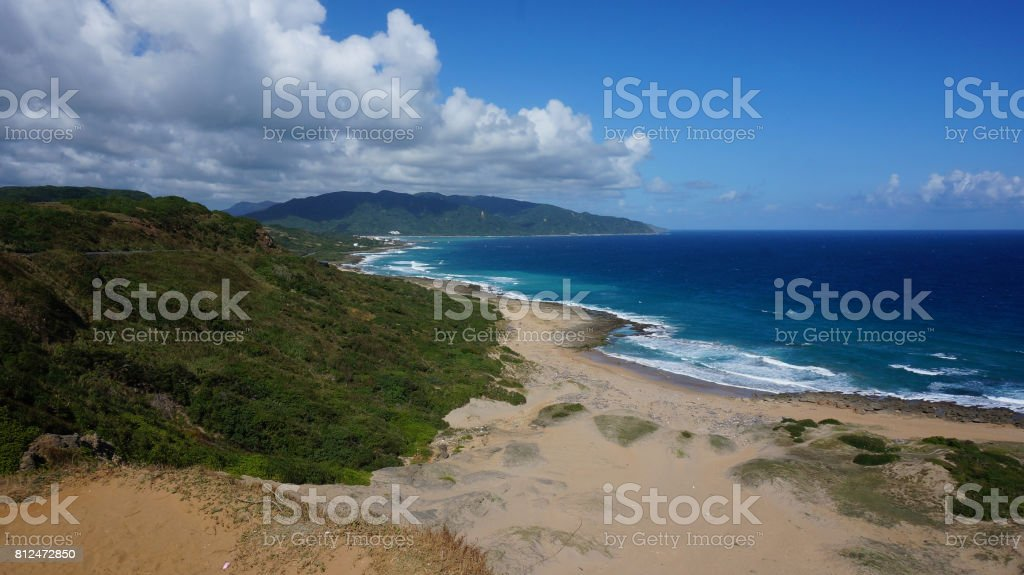 Nature scenery view from the seaside of Kenting, Taiwan stock photo