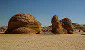 Nature sculpture in Wadi Al-Hitan aka Whales Valley, Egypt