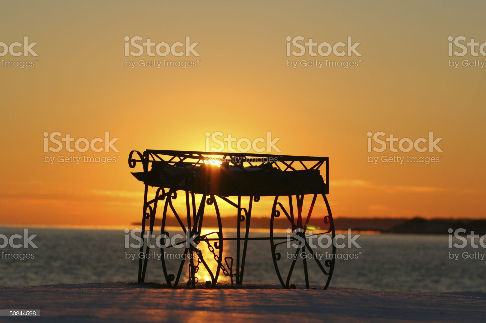 Nature: Seashore Sunset royalty-free stock photo