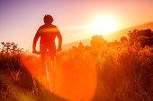 nature sunshine man fitness landscape