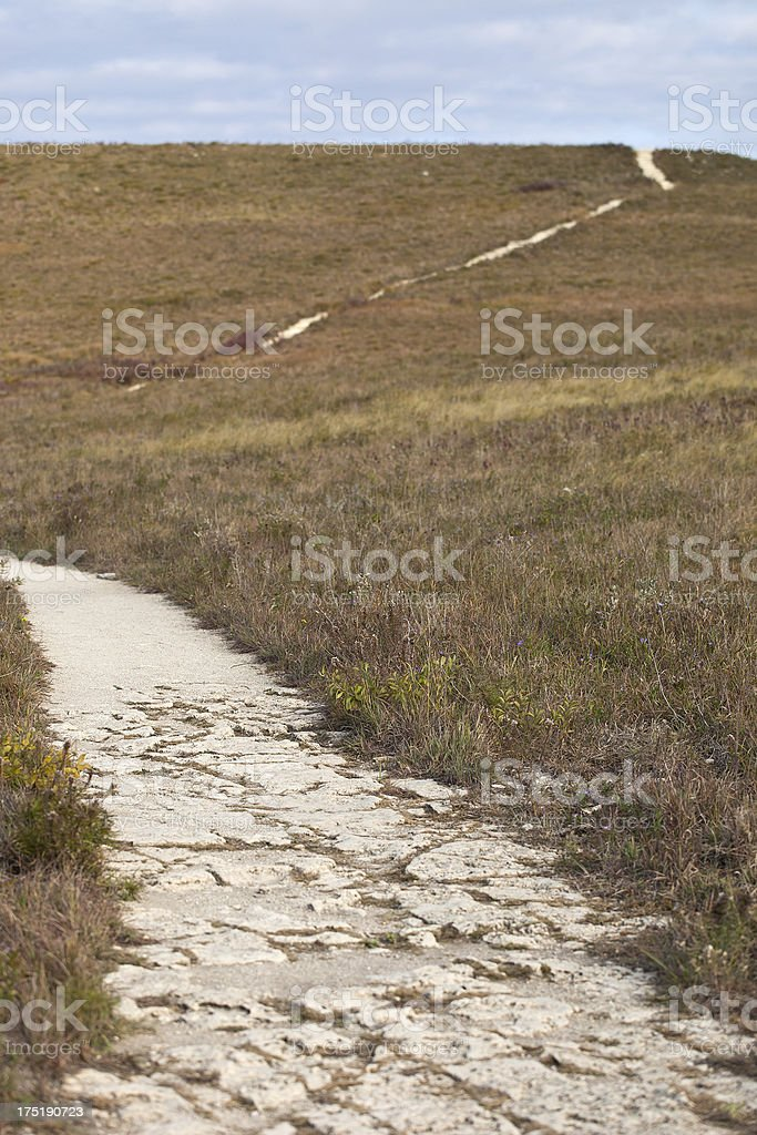 Nature Trail In Kansas stock photo