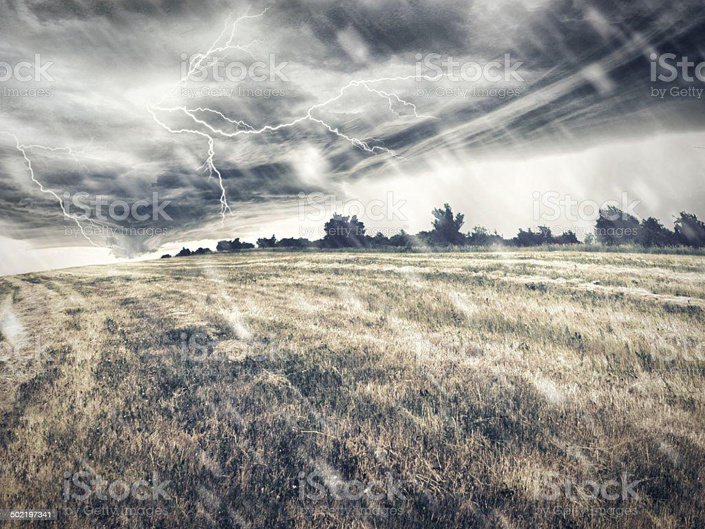 Nature unleashes itself stock photo