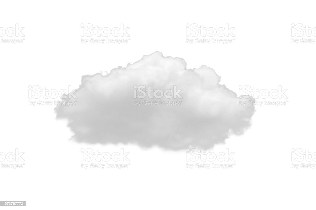 Nature white clouds isolate on white background stock photo