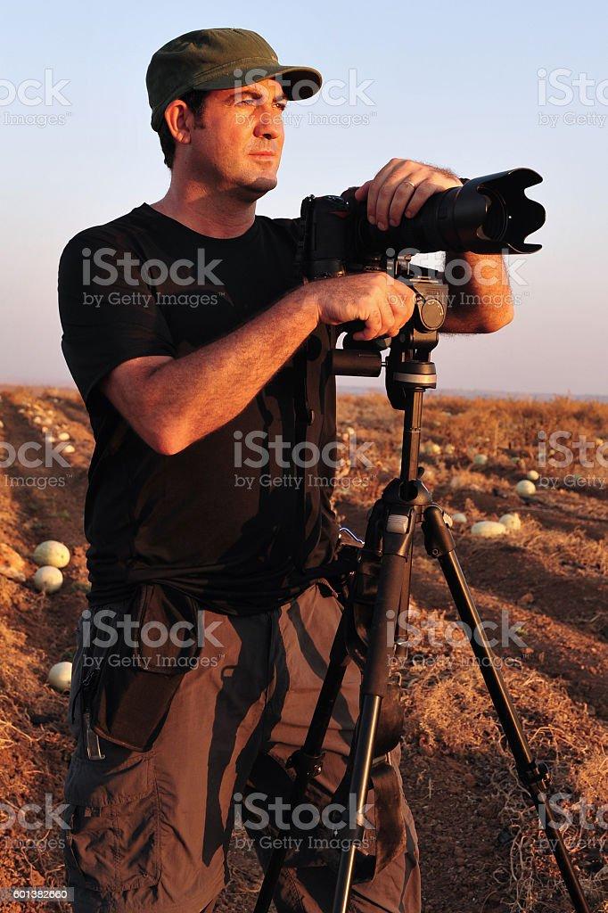 Nature Wildlife Photographer stock photo